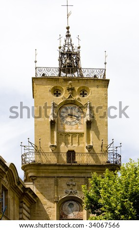 town hall, Aix-en-Provence, Provence, France - stock photo