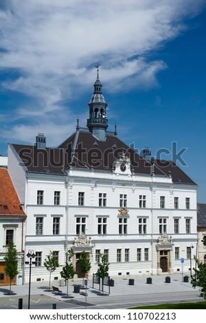 Town hall in Valtice, Valtice-Lednice area, Czech Republic - stock photo
