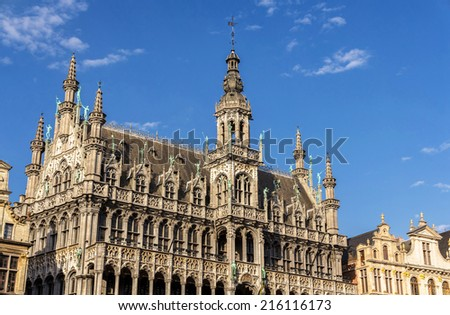 Town hall of Brussels, Belgium - stock photo