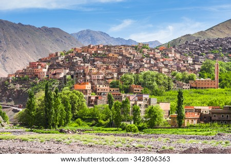 Town of Aroumd, Toubkal national park, Morocco - stock photo