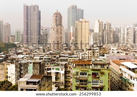 town of asia . Macao - stock photo
