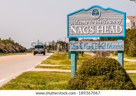 town of nags head scenes on outer banks nc - stock photo