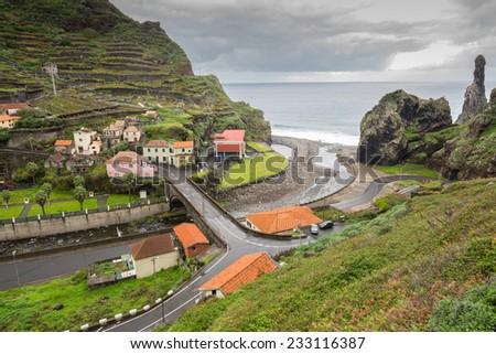 Town of Ribeira Da Janela, Madeira (Portugal) - stock photo