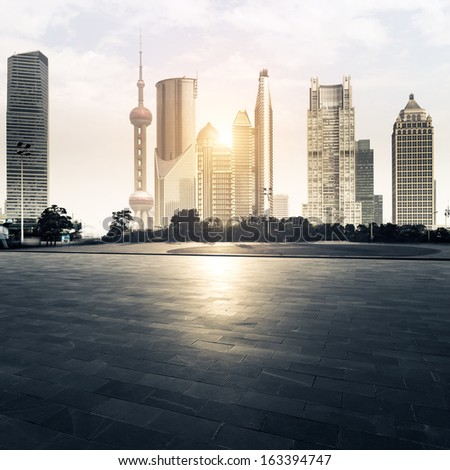 Town Square in shanghai,china - stock photo