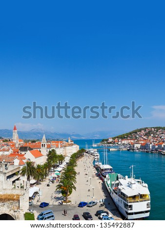 Town Trogir in Croatia - architecture background - stock photo