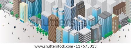 Townscape / Illustration - stock photo