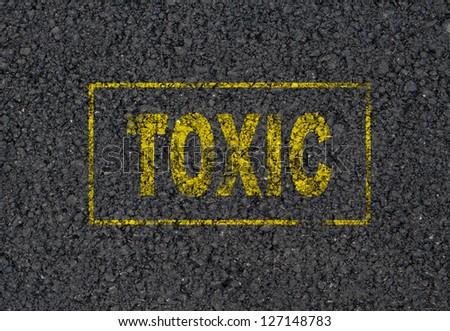 Toxic sign background - stock photo