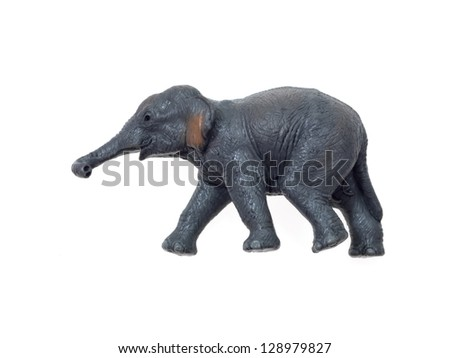 Toy animals isolated against a white background - stock photo