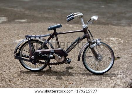 Toy bicycle - stock photo