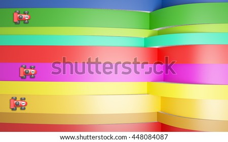 toy car abstract race 3D illustration - stock photo
