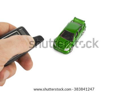 toy car and key - stock photo
