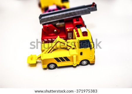 Toy Car ,Tow truck - stock photo