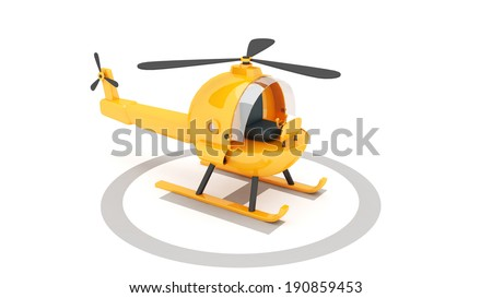 toy helicopter for use in presentations, manuals, design, etc. - stock photo