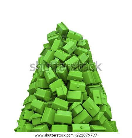 Toy houses peak - stock photo