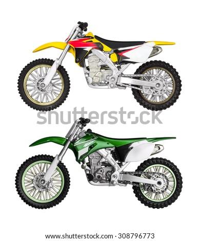 Toy motorbikes  - stock photo