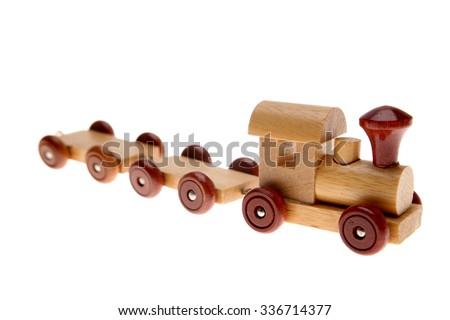 Toy train on plain background - stock photo