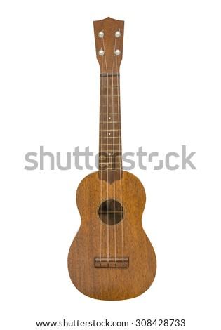 Toy ukulele guitar isolated  - stock photo