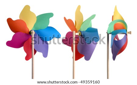 toy-windmill - stock photo