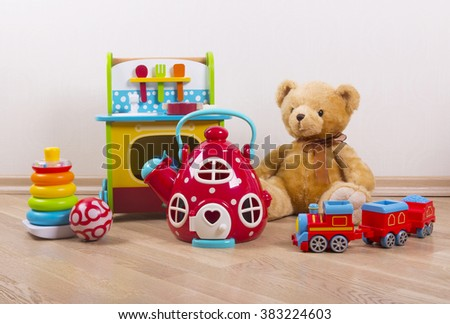 toys collection - stock photo