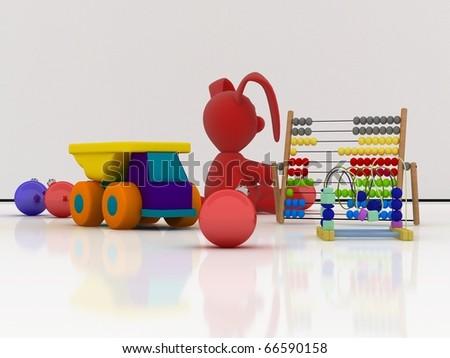 Toys for Christmas - stock photo