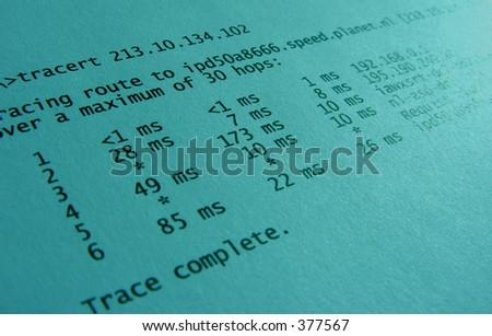 tracert - stock photo
