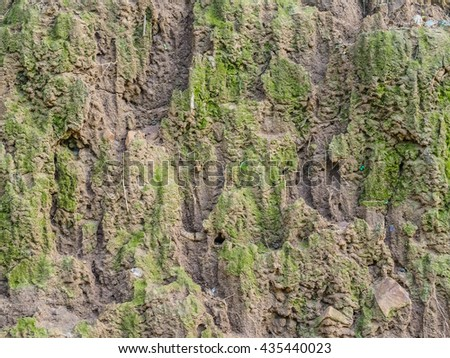 Traces of soil erosion, water. - stock photo