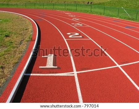 Track curve - stock photo