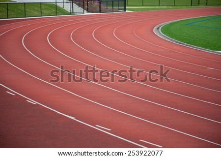 Track for athletics and track and field - stock photo