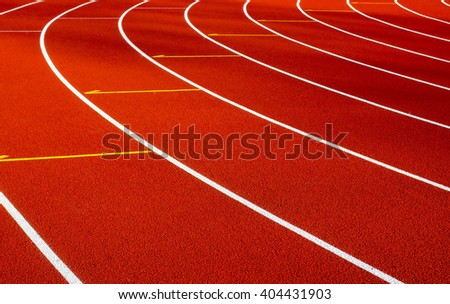 Track for running in the stadium - stock photo