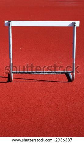 Track Hurdle - stock photo