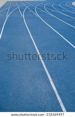 track in the stadium - stock photo