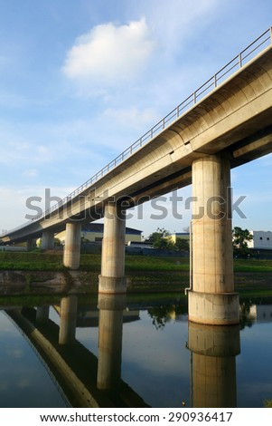 Track of Singapore mass rapid train (MRT) - stock photo
