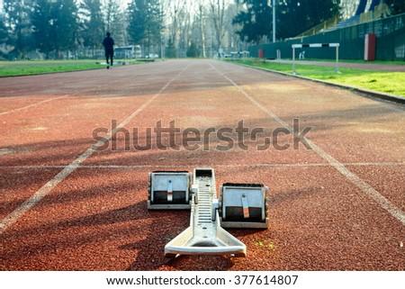 Track start - stock photo