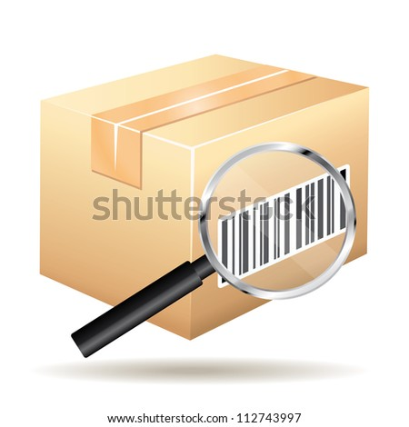 Tracking number parcel icon. - stock photo