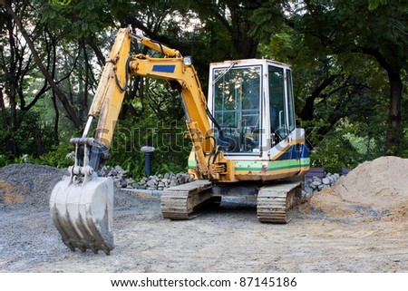 Tractor construction. - stock photo