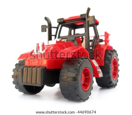 Tractor red toy - stock photo