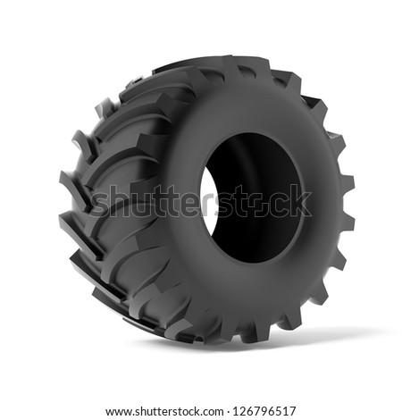 Tractor tire - stock photo