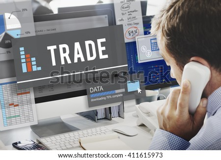 Trade Commerce Deal Economy Exchange Growth Concept - stock photo