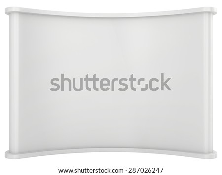 Trade exhibition stand. Isolated on white background - stock photo