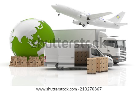 Trade in Asia - Transport - stock photo
