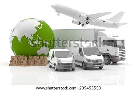 Trade in Asia - Transportation - stock photo