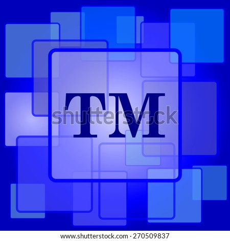 Trade mark icon. Internet button on abstract background.  - stock photo