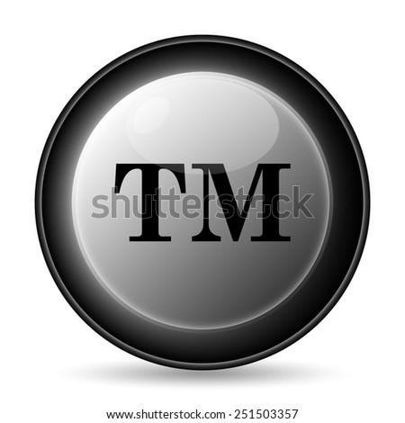 Trademark icon. Internet button on white background.  - stock photo