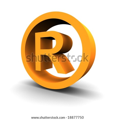 Trademark symbol 3d rendered image - stock photo