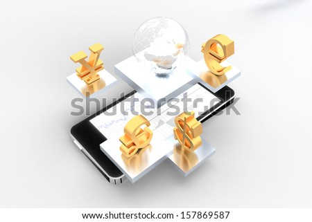 Trading on the go  - stock photo