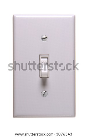 Traditional american electric switch in OFF position - stock photo