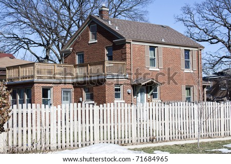 Traditional American Home - stock photo
