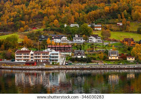 traditional architecture of Norway - stock photo