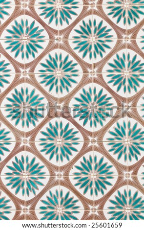 Traditional azulejos - stock photo