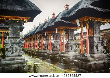 Traditional balinese temple Pura Beji - stock photo